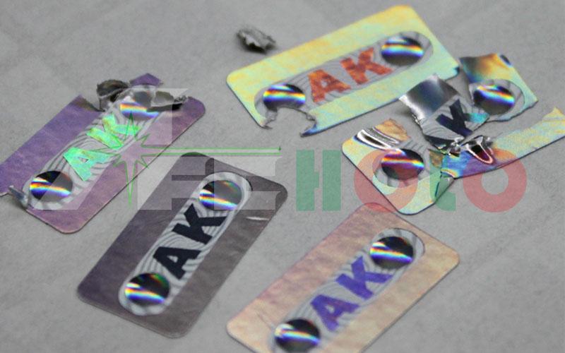 易碎材料防伪标签