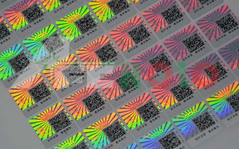激光二维码防伪标签