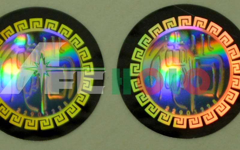 光透镜防伪标签