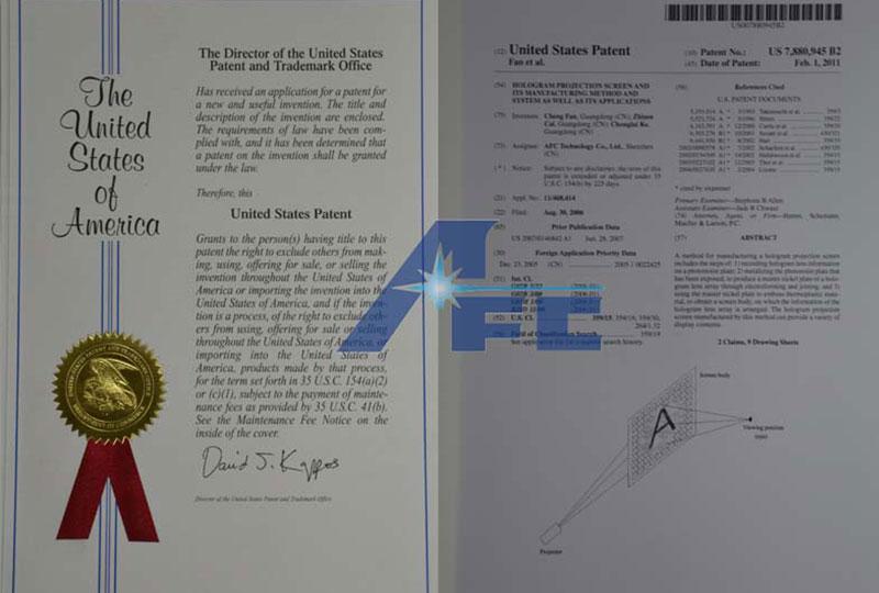 专利证书-美国专利