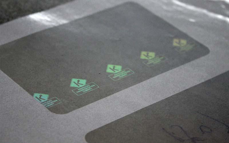 透明材料防伪标签